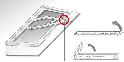 Dachfenster Service Typenschild